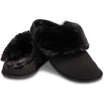 【クロックス公式】 クラシック ラックス スリッパ Classic Luxe Lined Slipper ユニセックス、メンズ、レディース、男女兼用 ブラック/黒 22cm,24cm,26cm slipper