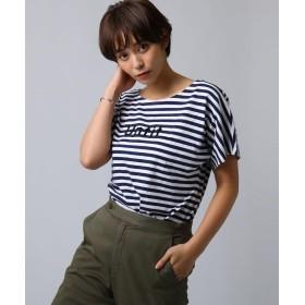 Untit_(アンティット) コットンボーダーTシャツ