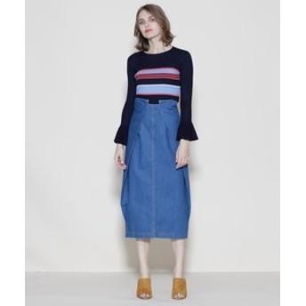 【GRACE CONTINENTAL:スカート】ロングデニムスカート