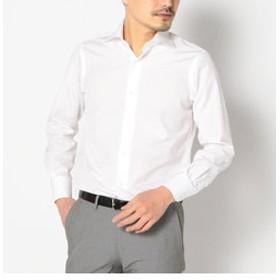 【SHIPS:トップス】SD:【ALBINI社製生地】ファインフィットブロード ソリッド ワイドカラーシャツ
