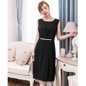 [マルイ]【セール】タック入りパールライン&裾レースパーティードレス/ドレススター(DRESS STAR)