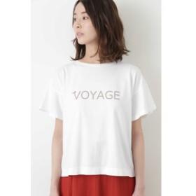 【HUMAN WOMAN:トップス】 VOYAGEプリントTシャツ