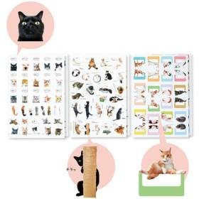 「猫部トーク」の猫さんたちとつくった手帳であそぶ猫シールの会 フェリシモ FELISSIMO【送料:450円+税】