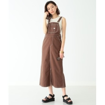 Lee × B:MING by BEAMS / 別注 スリット サロペットスカート 19SS レディース ワンピース D.BROWN S