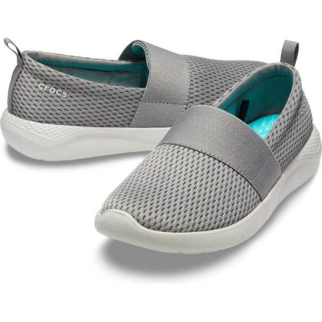 【クロックス公式】 ライトライド メッシュ スリップオン ウィメン LiteRide Mesh Slip On W ウィメンズ、レディース、女性用 グレー/グレー 21cm,22cm,23cm,24cm,25cm shoe 靴 シューズ