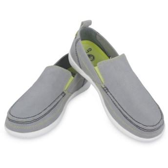 【クロックス公式】 ワルー スリップオン メン Men's Walu Slip-On メンズ、紳士、男性用 グレー/グレー 26cm,27cm,28cm,29cm loafer ローファー 靴