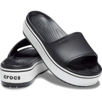【クロックス公式】 クロックバンド プラットフォーム スライド Crocband Platform Slide ユニセックス、メンズ、レディース、男女兼用 ブラック/黒 22cm,23cm,24cm,25cm slide スライドサンダル スポーツサンダル シャワーサンダル サンダル
