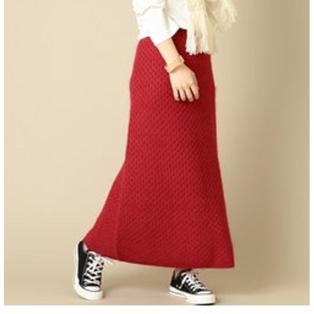 【SHIPS:スカート】THEIRON:ウールモヘアスカート