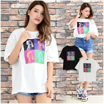 Tシャツ - Janiss 4連転写フォトBIG半袖Tシャツ