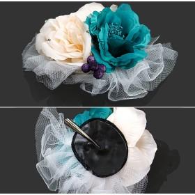 ヘアアクセサリー全般 - KIMONOMACHI 振袖 髪飾り「ターコイズ×ピンクホワイト 花とレース」 成人式 結婚式 ヘアアクセサリー 前撮り