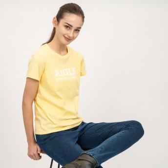 AIGLE レディース レディース 吸水速乾 銀イオン抗菌 AIGLEロゴ 半袖Tシャツ ZTF003C CITRUS (140) Tシャツ