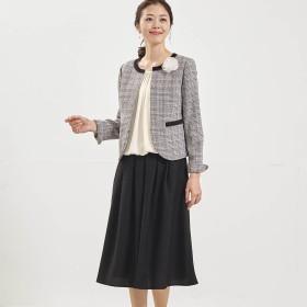 【洗濯機で洗える】やや長め丈が嬉しい4点セットスカートスーツ