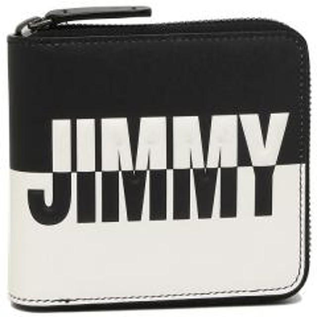 b607ac57ce03 【P10倍】 ジミーチュウ 折財布 メンズ JIMMY CHOO LAWRENCE BBM ブラック ホワイト 【