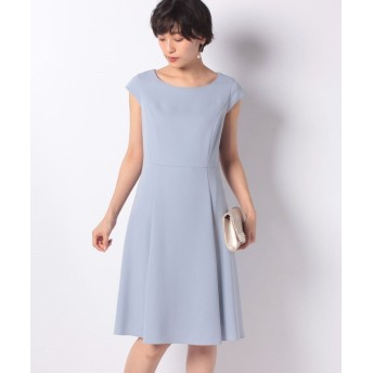 ミス ジェイ ドビークロス フレンチスリーブ ドレス レディース ブルー 40 【MISS J】