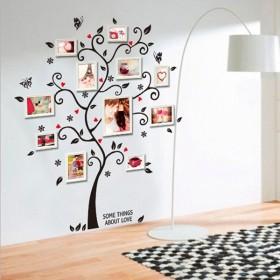 ウォールステッカー 壁ステッカー ステッカー 壁シール インテリア雑貨 雑貨 デコレーション 装飾 木 ツリー 蝶 リーフ 葉 かわいい ロマンチック