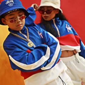 キッズダンス衣装 ヒップホップ HIPHOP 男の子 新作 サルエル ジャケット ブルゾン 女の子 ダンス衣装 ジャズダンス ステージ
