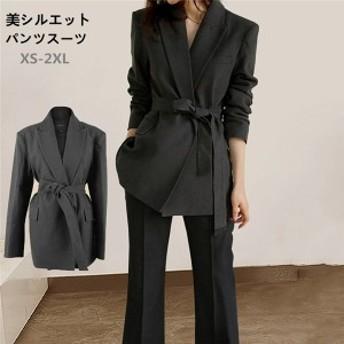 パンツスーツ レディース フォーマル 2点セット 卒業式 ビジネス オフィス ビジネススーツ リクルートスーツ 大きいサイズ 就活