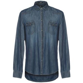 《期間限定セール開催中!》OFFICINA 36 メンズ デニムシャツ ブルー S 100% コットン