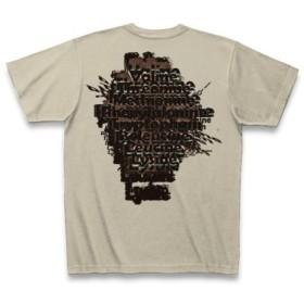 必須アミノ酸◆アート文字◆ロゴ◆ヘビーウェイト◆半袖◆Tシャツ◆シルバーグレー◆各サイズ選択可
