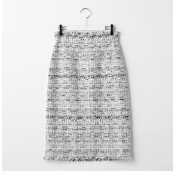 新規会員登録で3,000円OFF!【NOLLEY'S:スカート】ファンシーツイードハイウエストスカート