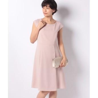 ミス ジェイ ドビークロス フレンチスリーブ ドレス レディース ピンク 40 【MISS J】