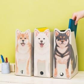 YOU+MORE! おうちでキリリとスタンバイ 柴犬おすわりファイルボックスの会 フェリシモ FELISSIMO【送料:450円+税】