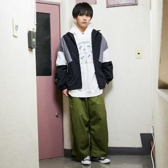 ジャケット・ブルゾン - kutir 【kutir】配色ナイロンジャケット