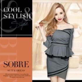 319001a416440 キャバドレス キャバ ドレス 大きいサイズ ソブレ ミニ ワンピ カバー力抜群のデザイン♪ シースルー