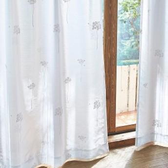 【直送】ウォッシャブルボイルカーテン(ボイルサントス・100×133・2枚組)
