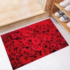 フロアステッカー ウォールステッカー 壁ステッカー ステッカー 床シール インテリア雑貨 雑貨 デコレーション 装飾 薔薇 バラ フラワー 花 赤 レ