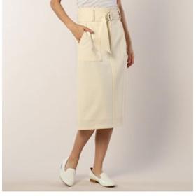 【FREDY & GLOSTER:スカート】T/Rストレッチ ポケット付タイトスカート