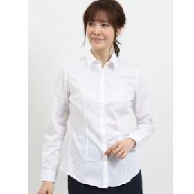 【TAKA-Q:トップス】形態安定レギュラーカラー長袖ツイルシャツ