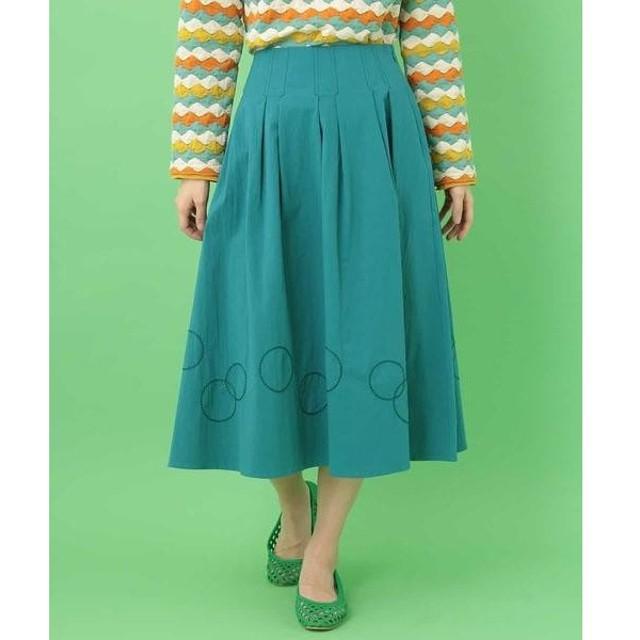 Jocomomola ホコモモラ サークル刺繍フレアスカート