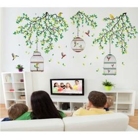 ウォールステッカー 壁ステッカー ステッカー 壁シール インテリア雑貨 雑貨 リビングルーム デコレーション 装飾 木 森林 自然 緑 癒し 枝 鳥か