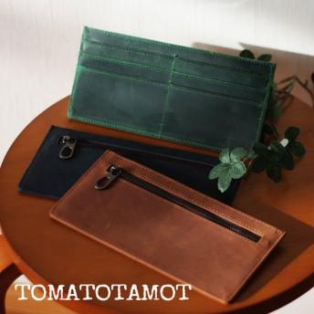 本革 オイルレザー スライスウォレット ミニマム財布 薄い財布 W-030