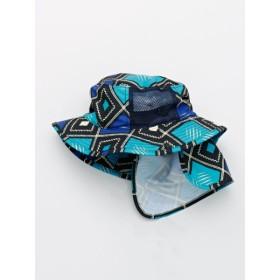 帽子全般 - チャイハネ 【チャイハネ】アフリカン柄陽射し避けサファリハット キッズサイズ