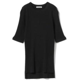 AURALEE /リブ ニット T レディース Tシャツ BLACK 1