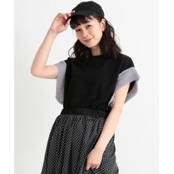 CAROLINA GLASER / プリーツ袖 カットソー レディース カットソー ブラック ONE SIZE