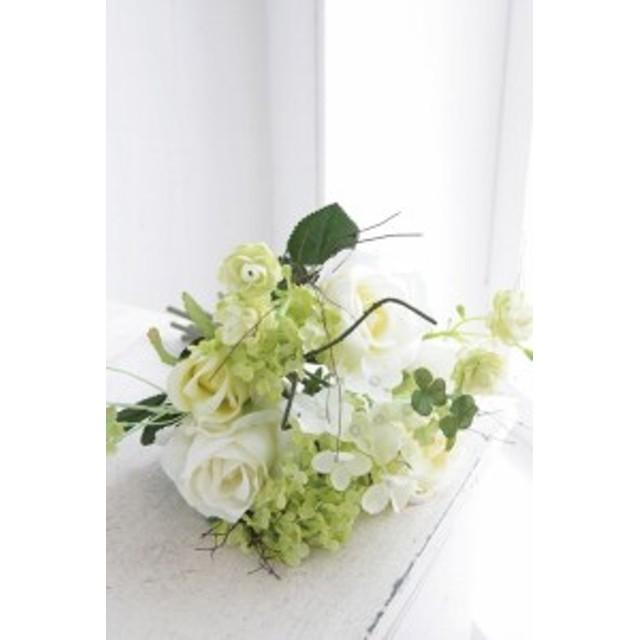 (まとめ買い)COVENT GARDEN クリームローズ・ブーケ 造花 人工観葉植物 TT-14 〔×4〕