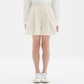 (GU)GIRLSレースショートパンツ OFF WHITE 110
