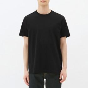 (GU)クルーネックT(半袖) BLACK S