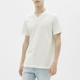 (GU)VネックT(半袖) WHITE L