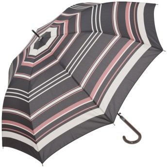 レディース 長傘 婦人雨傘a.v.vボーダー柄