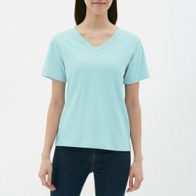 GU カラーVネックTシャツ