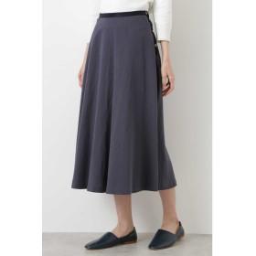 ◆綿麻ツイルスカート アッシュネイビー