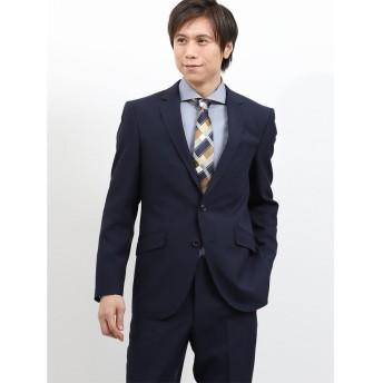 タカキュー ストレッチ洗えるスラックス シャドーストライプ紺 2ピースレギュラースーツ メンズ ネイビー A6 【TAKA-Q】