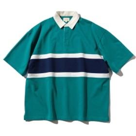 BEAMS / ラグビージャージ ポロシャツ メンズ ポロシャツ GREEN S