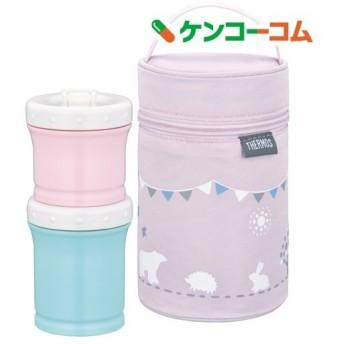 サーモス 保冷ポーチ付き離乳食ケース 0.24L ピンク NPE-240 P ( 1セット )/ サーモス(THERMOS)