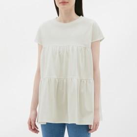 GU ジーユー ティアードオーバーサイズTシャツ 半袖