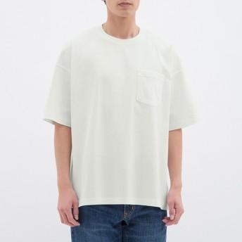 (GU)スーパービッグT(5分袖) WHITE S